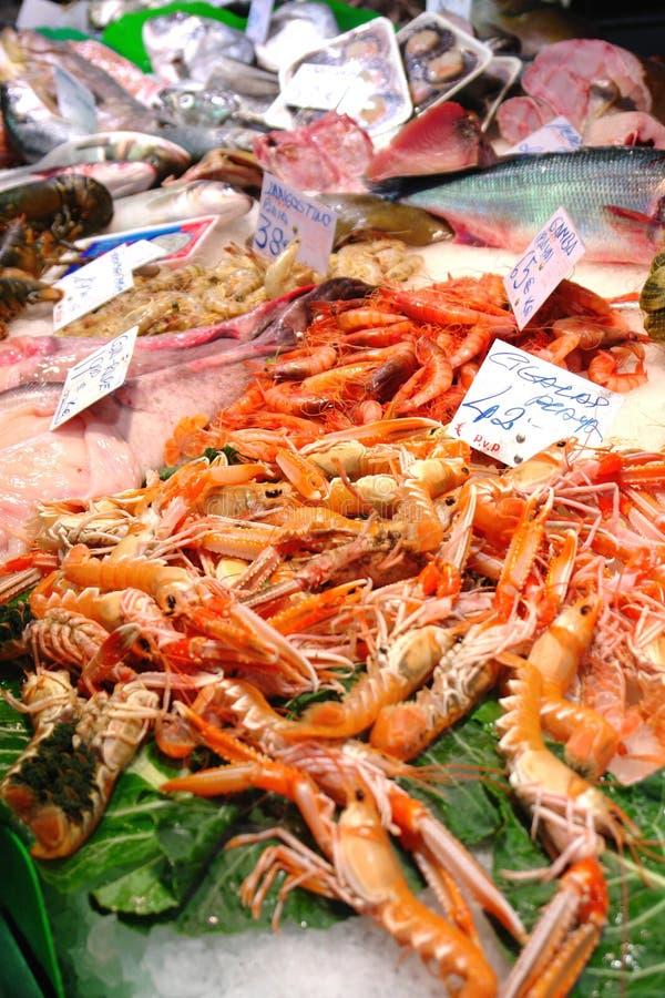 Mercado de los mariscos fotografía de archivo libre de regalías