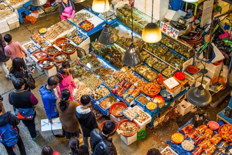 Mercado de los mariscos en Seul imagen de archivo