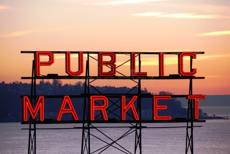 Mercado de lugar de Pike imagens de stock royalty free