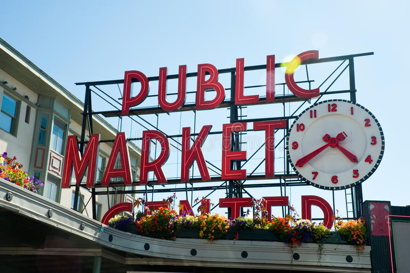 Mercado de lugar de Pike fotos de stock royalty free