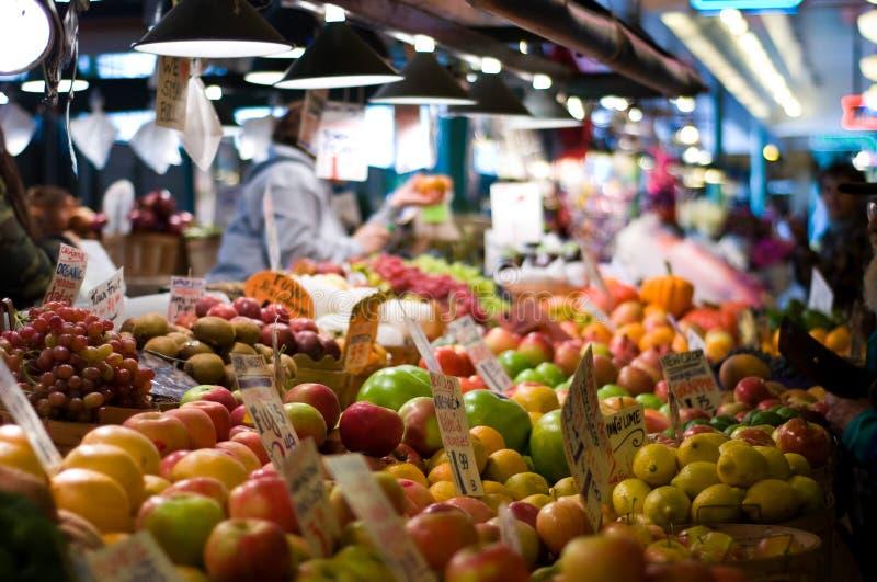Mercado de lugar de Pike em Seattle imagem de stock royalty free