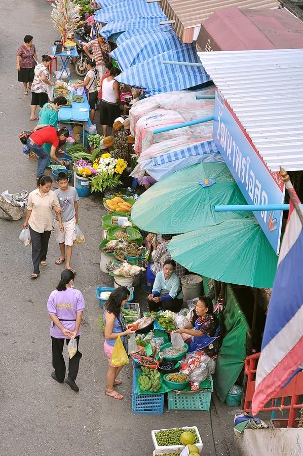 Mercado de Lum Yai de la tonelada imagen de archivo