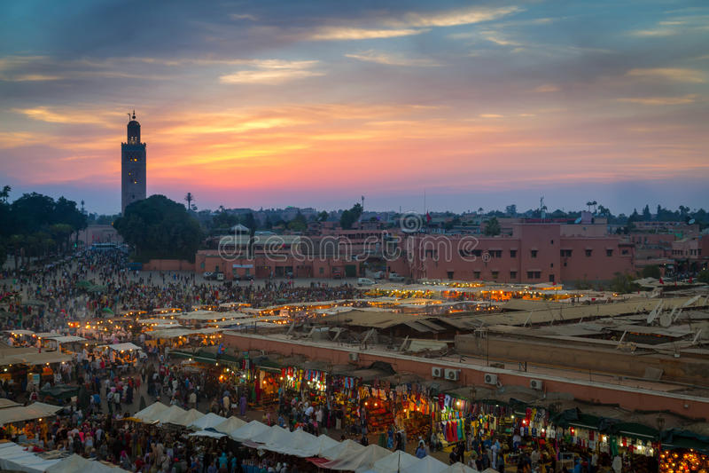 Mercado de Marrakesh foto de archivo