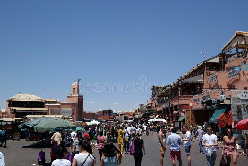 Mercado de Marrakesh imágenes de archivo libres de regalías