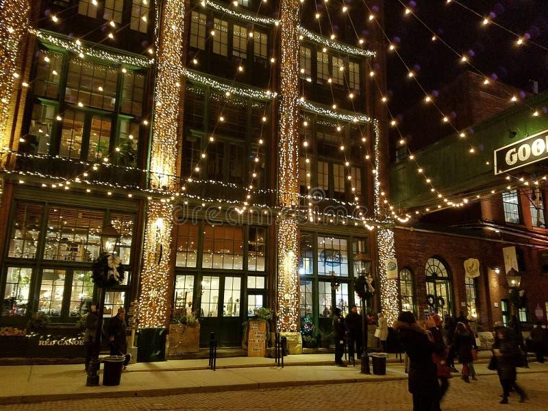 Mercado de Natal Toronto fotos de stock
