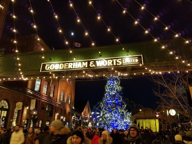 Mercado de Natal Toronto imagens de stock