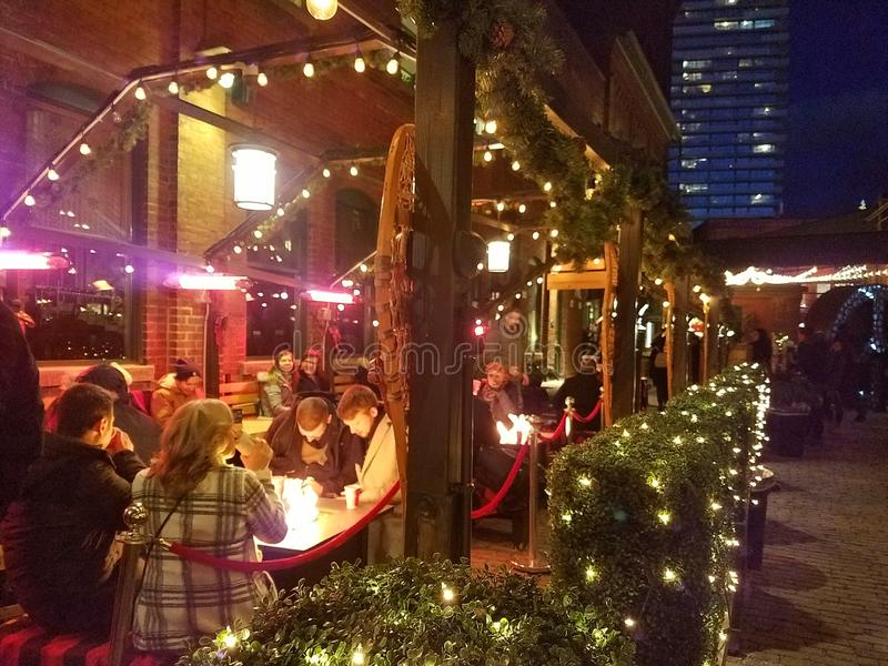 Mercado de Natal Toronto fotografia de stock
