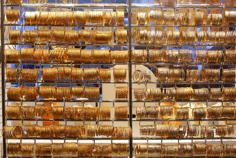Mercado de oro de Dubai foto de archivo libre de regalías