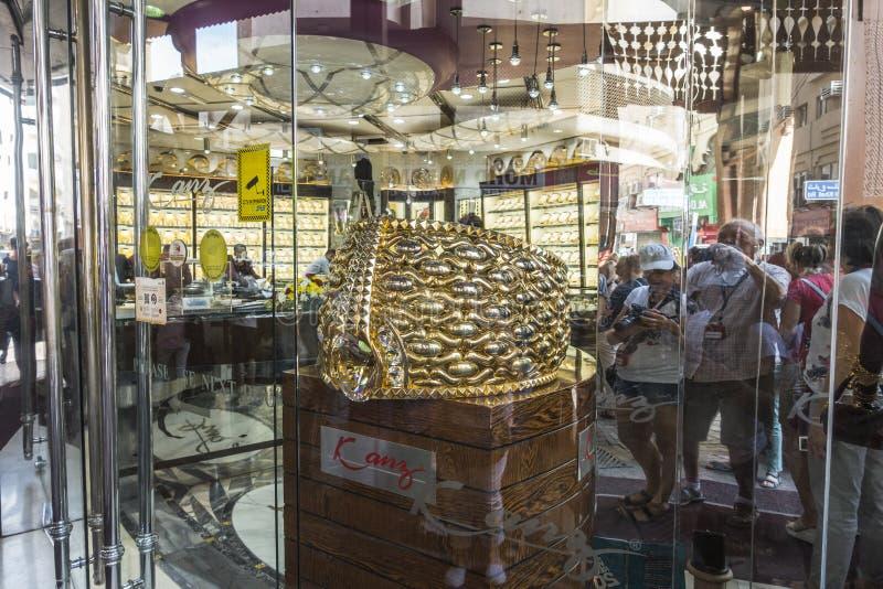 Mercado de ouro em Dubai imagem de stock