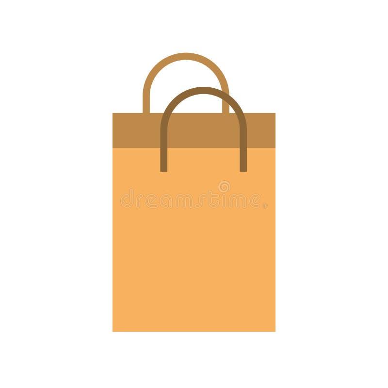 Mercado de papel del comercio del bolso que hace compras stock de ilustración