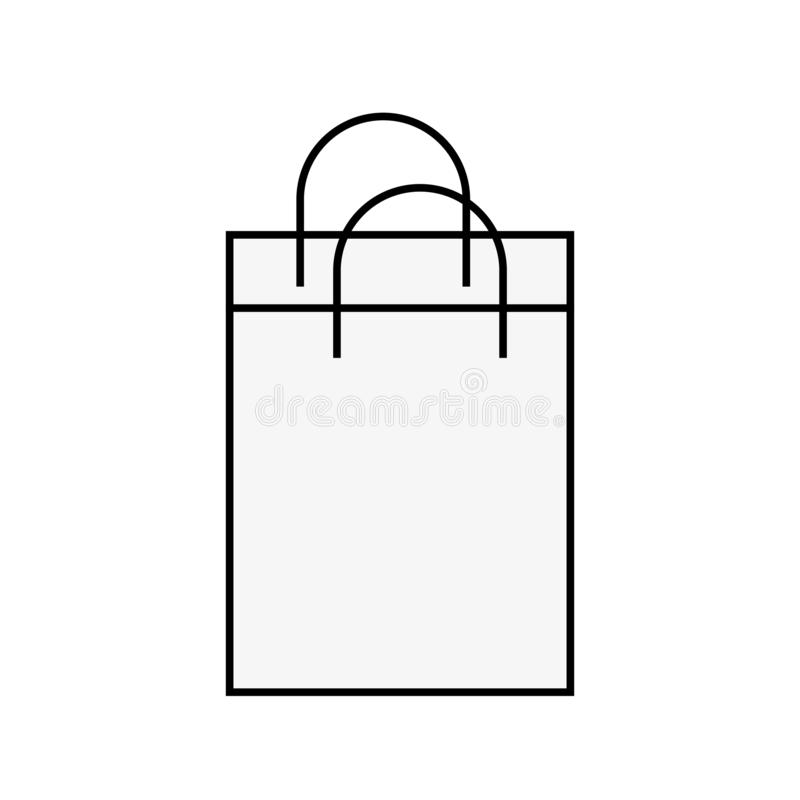 Mercado de papel del comercio del bolso que hace compras libre illustration