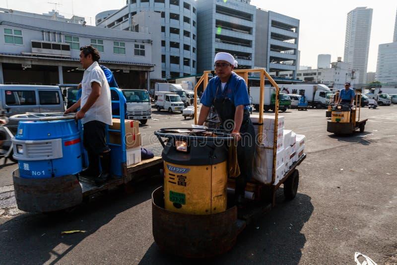 Mercado de peixes de Tsukiji foto de stock