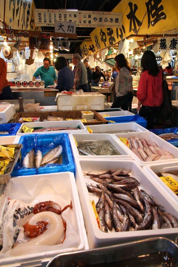 Mercado de peixes de Tsukiji, Tokyo imagem de stock