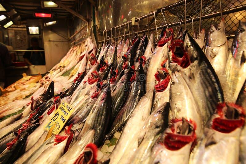 Mercado de peixes em Kadikoy Istambul fotografia de stock royalty free