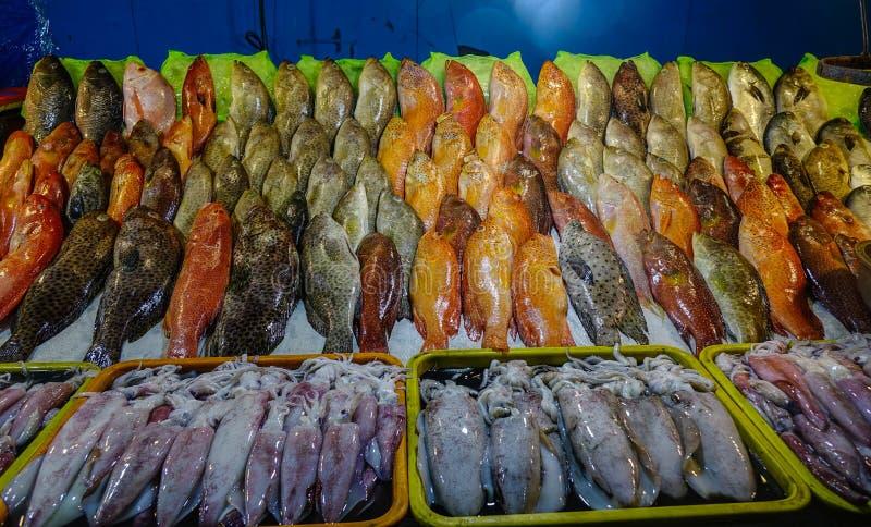 Mercado de peixes em Manila, Filipinas imagem de stock royalty free