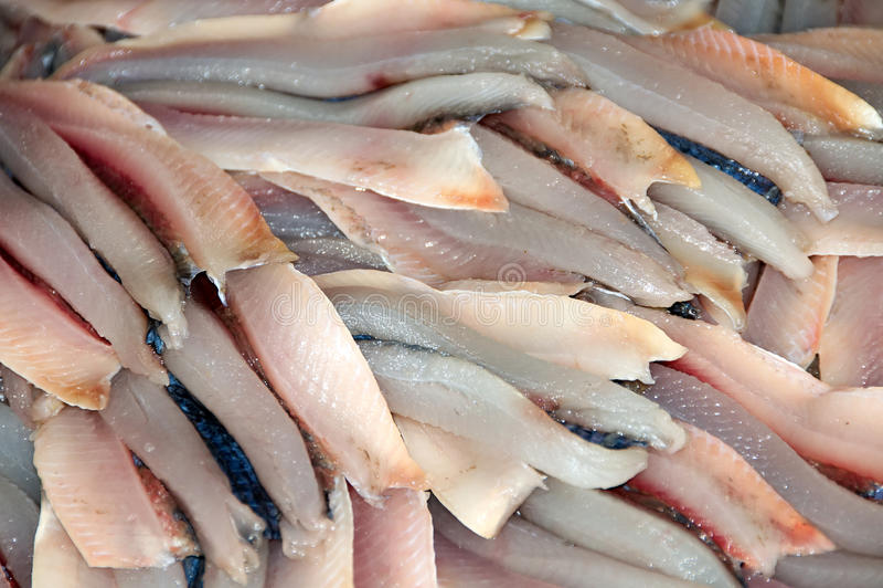 Mercado de peixes - peixe enfaixado fotografia de stock royalty free