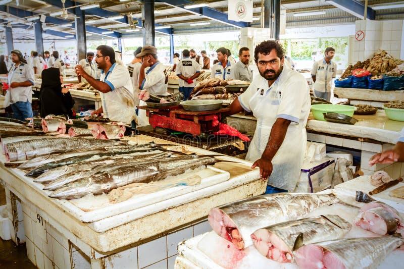 Mercado de pescados de Dubai en Deira, emiratos unidos imagen de archivo