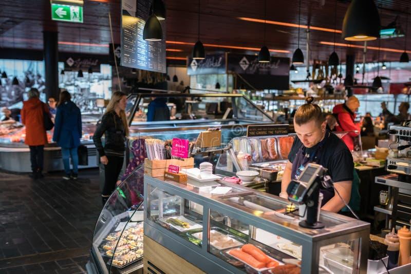 Mercado de pescados en Bergen imagen de archivo libre de regalías