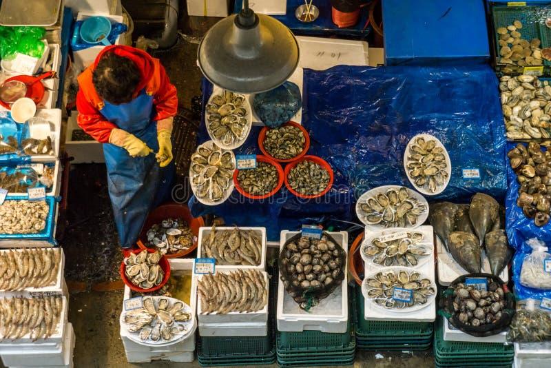 Mercado de pescados en Corea foto de archivo libre de regalías