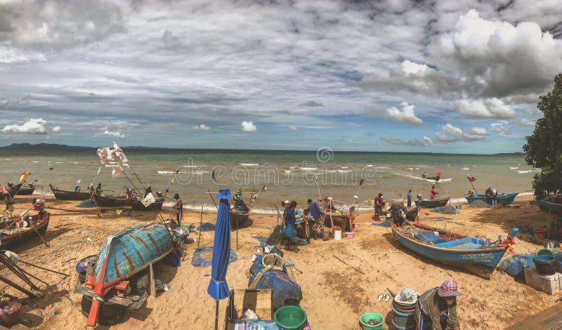 Mercado de pescados de la ma?ana fotografía de archivo libre de regalías