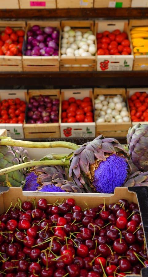 Mercado de produtos frescos, Provence imagem de stock