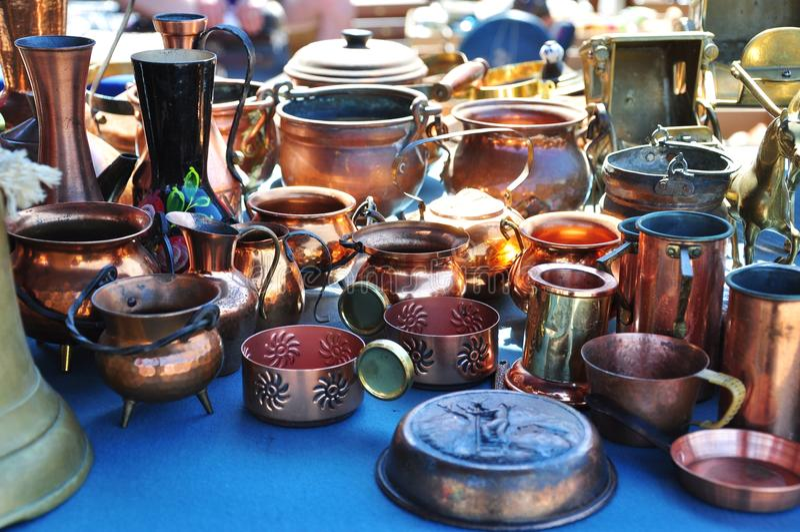 Mercado de pulga fotografia de stock royalty free