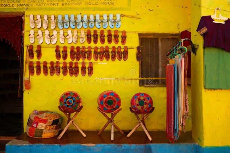Mercado de pulga em Hampi, India imagens de stock