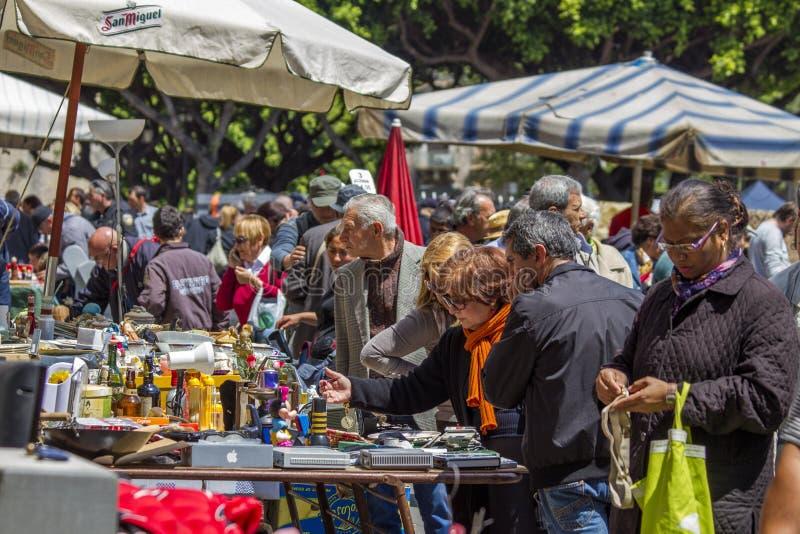 Mercado de pulgas de Catania fotos de archivo