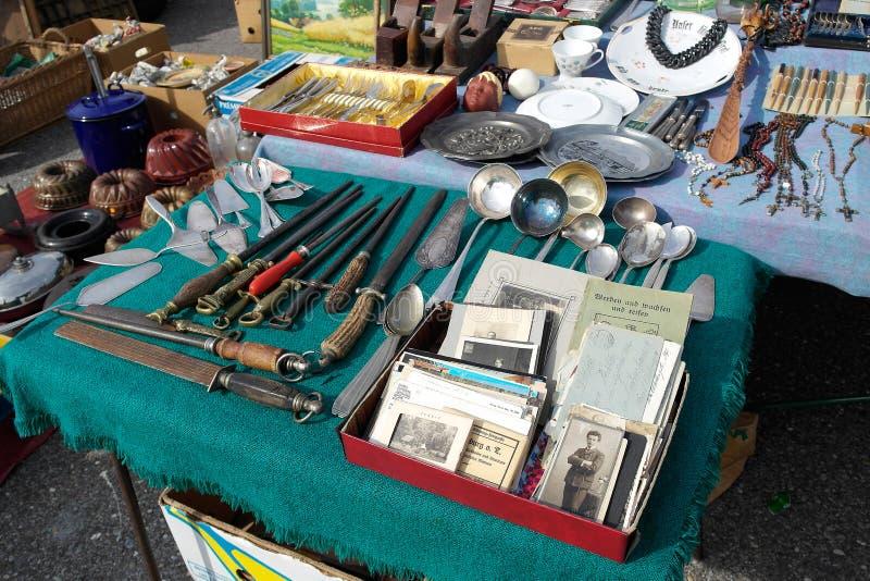 Mercado de pulgas del fin de semana fotografía de archivo libre de regalías