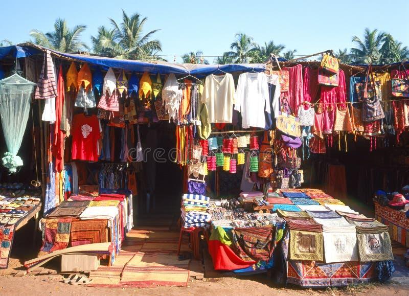 Mercado de pulgas en Goa imágenes de archivo libres de regalías