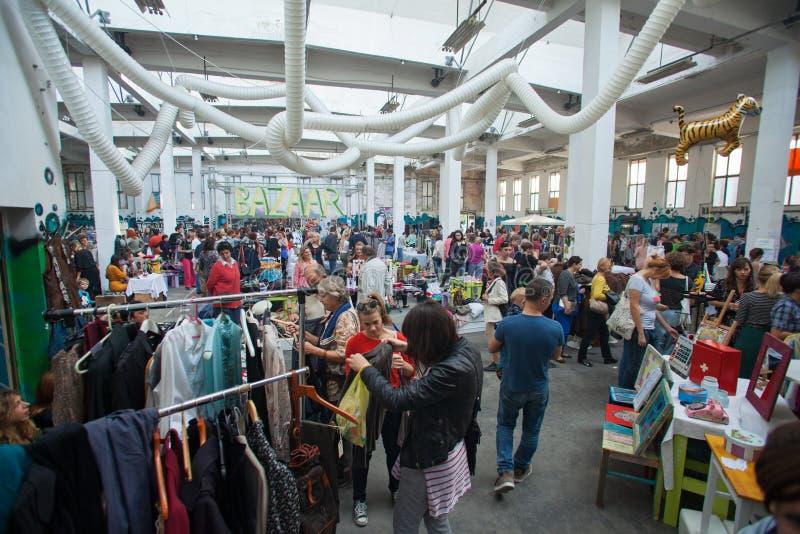 Mercado de pulgas en Zagreb foto de archivo libre de regalías