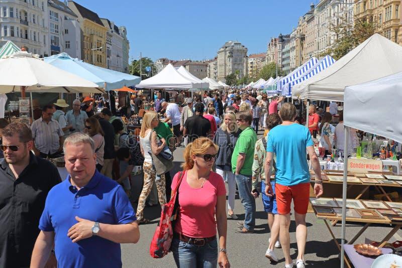 Mercado de pulgas Viena fotos de archivo libres de regalías
