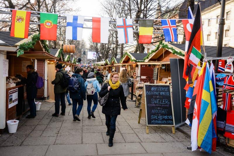 Mercado de rua de Oslo fotografia de stock