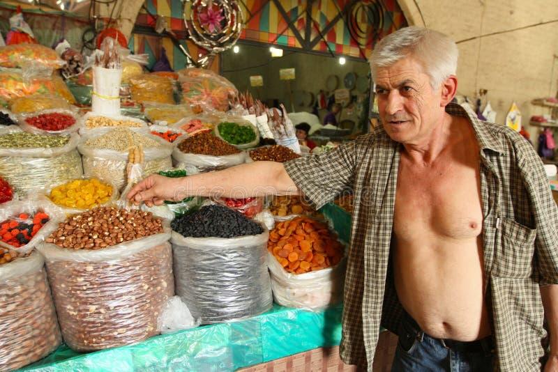 Mercado de rua em Geórgia imagem de stock