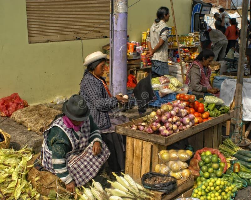 Mercado de rua, Equador foto de stock