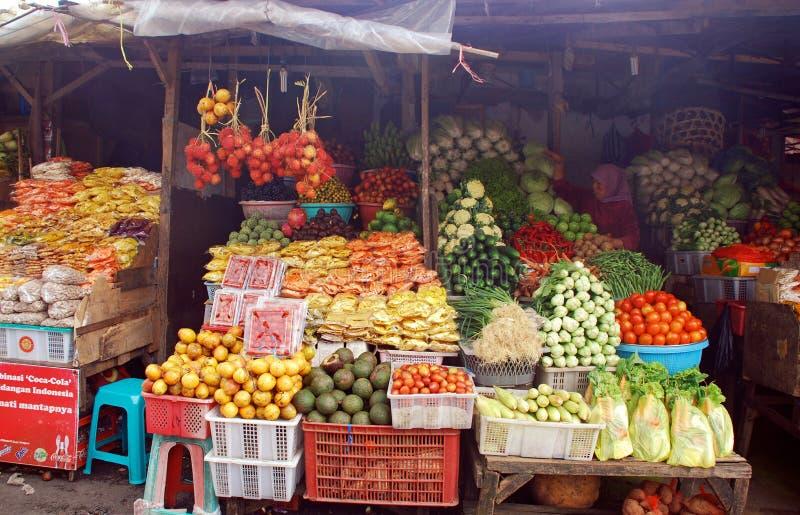Mercado de rua exótico do fruto, Bali, Indonésia imagem de stock