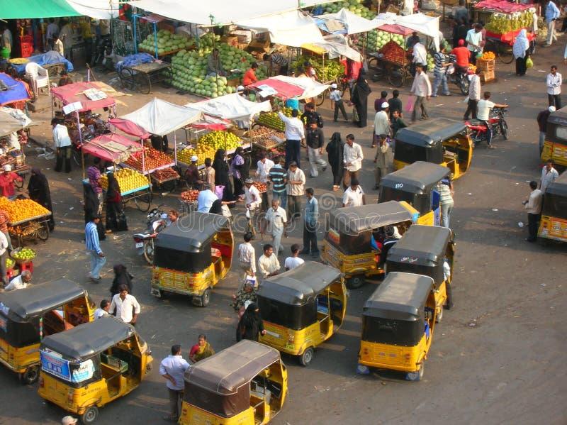 Mercado de rua indiano imagem de stock royalty free