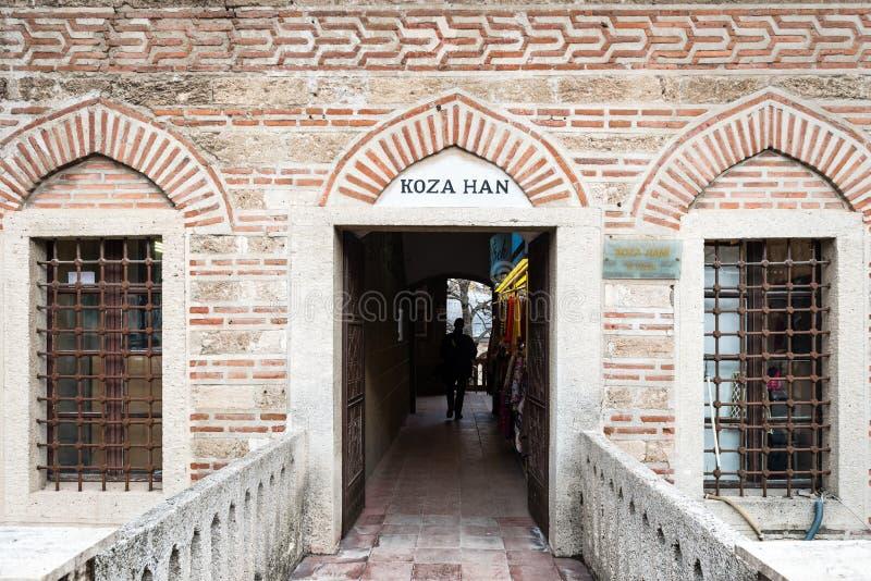 Mercado de seda de Koza Han em Bursaö Turquia fotografia de stock royalty free
