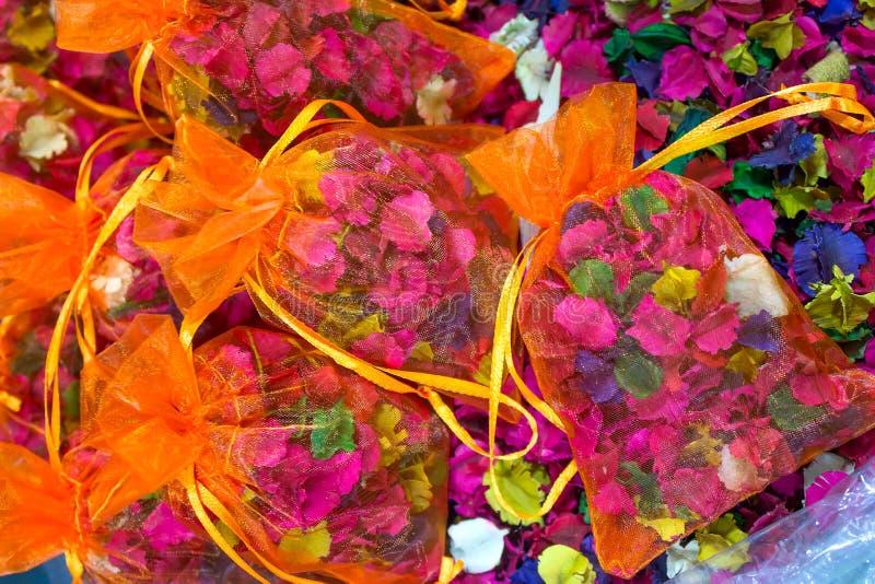 Mercado de Siti Khadijah Incienso anaranjado imagen de archivo libre de regalías
