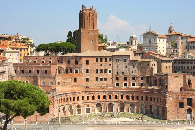 Mercado de Trajan (Mercati Traianei) en Roma, Italia foto de archivo