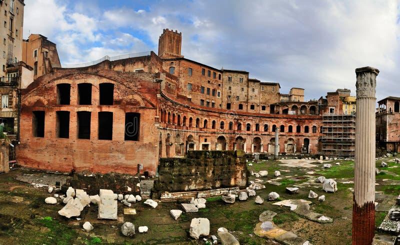Mercado de Trajan, Roma fotografia de stock