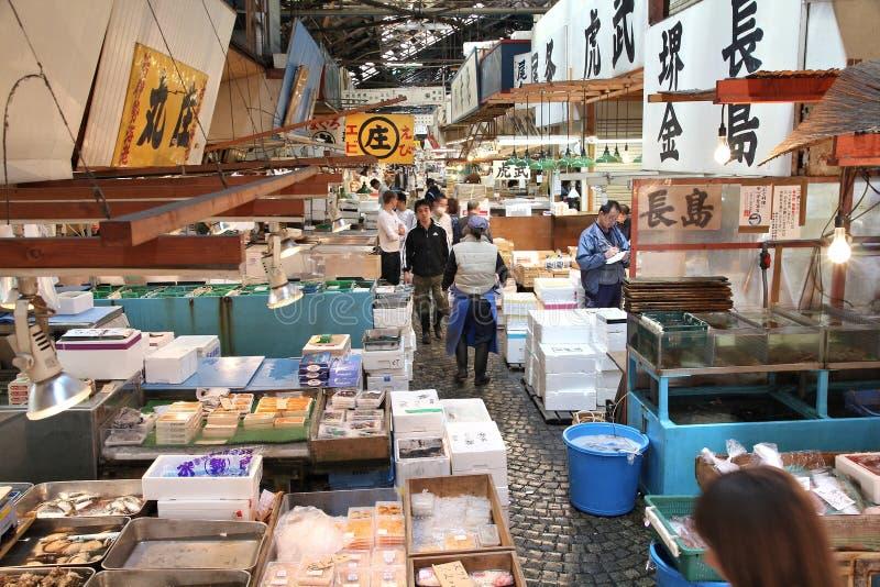 Mercado de Tsukiji imagenes de archivo