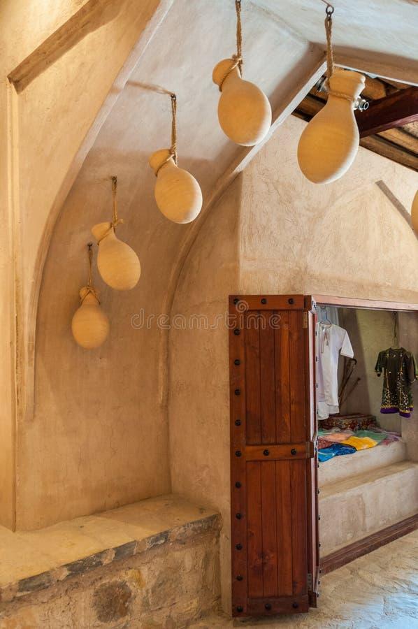 Mercado de um corredor, Omã do forte de Nizwa fotos de stock