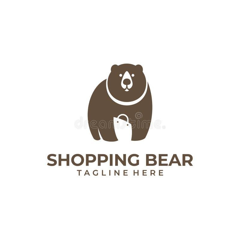 Mercado de urso de compra ilustração stock