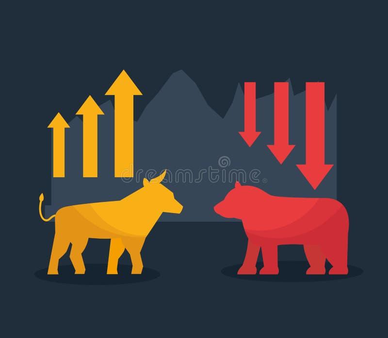 Mercado de valores de ação financeiro ilustração royalty free