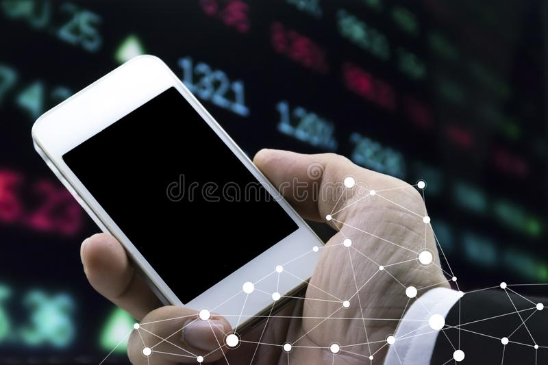 Mercado de valores de acção imagens de stock royalty free