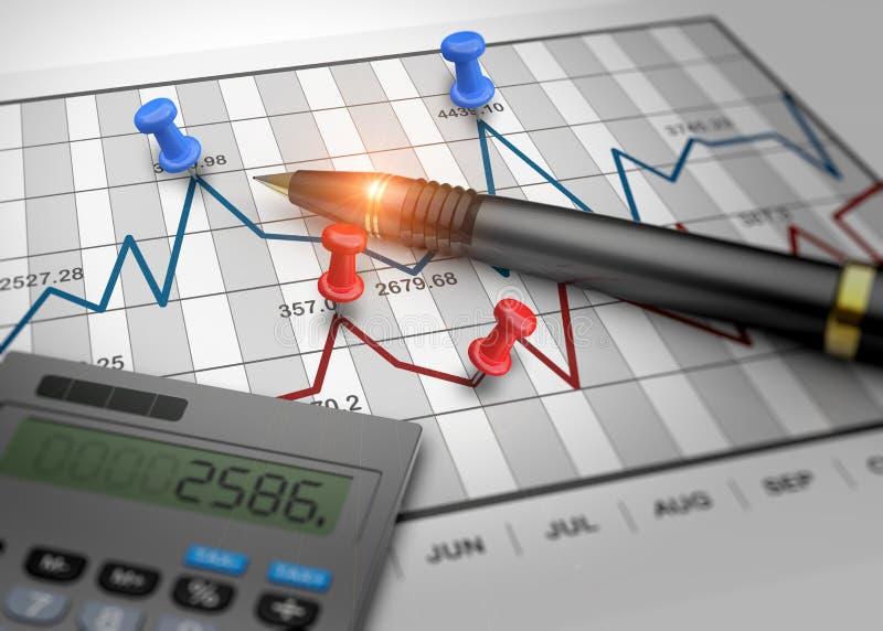 Mercado de valores de ação financeiro fotos de stock royalty free
