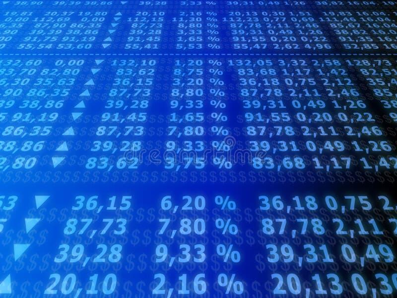 Mercado de valores de acção ilustração royalty free