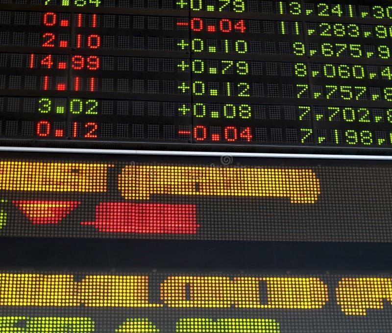 Mercado de valores de acção fotos de stock royalty free