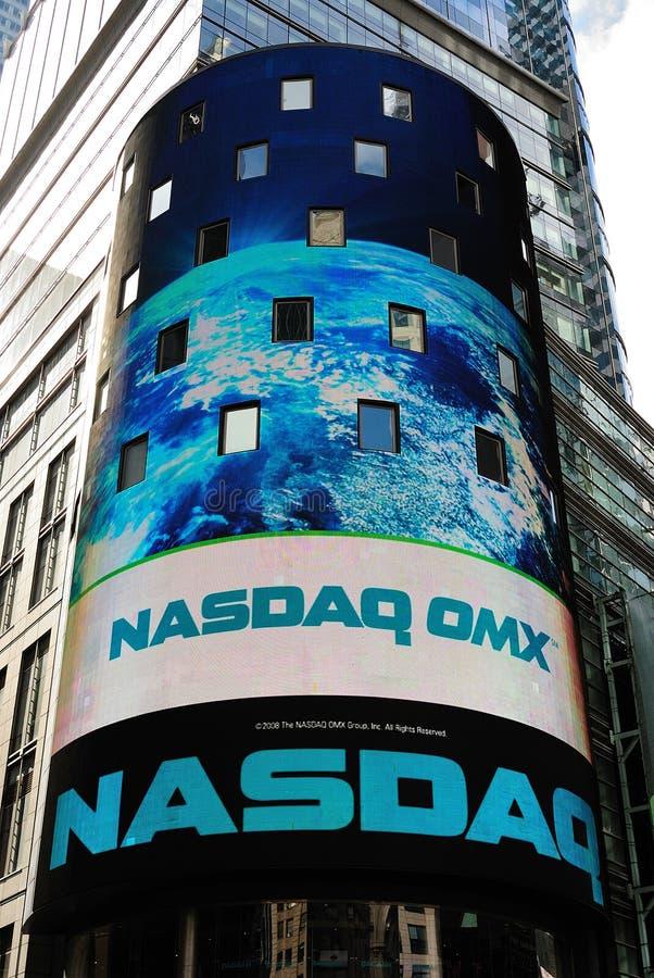 Mercado de valores de acção do Nasdaq foto de stock royalty free